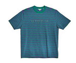 "Guess x Asap Rocky - Camiseta Logo GUE$$ ""Purple/Green"""