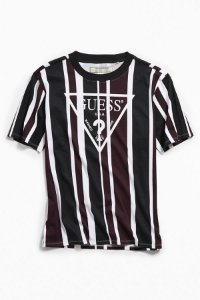 "GUESS - Camiseta Exclusive Rexford Striped ""Purple/Black/White"""
