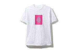 "ANTI SOCIAL SOCIAL CLUB - Camiseta Neon Pink Box Logo ""White"""