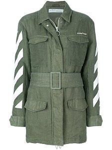 """OFF-WHITE - Jaqueta Military """"Verde"""" -USADO-"""