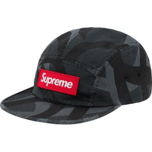 "SUPREME - Boné Military Camp ""Black/Grey"""