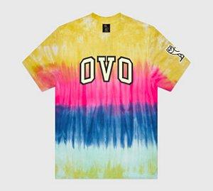 "OVO - Camiseta Tie Dye Arch ""Yellow/Pink"""