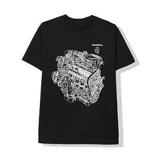 "Anti Social Social Club x Honda - Camiseta Motor ""Black"""