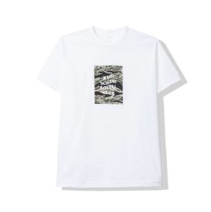 "ANTI SOCIAL SOCIAL CLUB - Camiseta Tiger Camo Box Logo ""Branco"" -NOVO-"