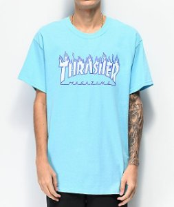"THRASHER - Camiseta Flame ""Sky Blue"""