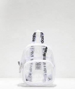 "adidas - Mochila Mini Clear ""White"""