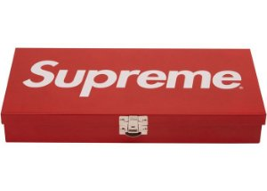 "SUPREME - Caixa Metal Storage ""Red"""