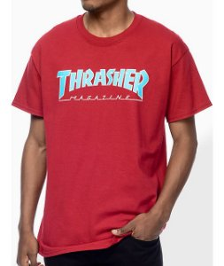 "THRASHER - Camiseta Magazine Outlined ""Red"" -USADO-"