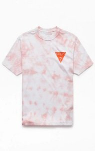 "GUESS - Camiseta Oversized Logo Orange ""Tie Dye"" -NOVO-"