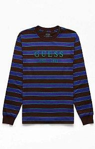 "GUESS - Camiseta Barrel Wave ""Brown/Blue"""