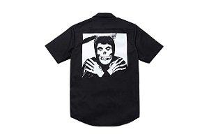 "Supreme x Misfits - Camisa Skull SS13 ""Black"""