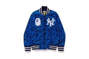 "BAPE x Mitchell & Ness - Jaqueta Yankees ""Blue"""