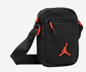 "NIKE - Bolsa Shoulder Jordan Festival ""Black/Infrared"""