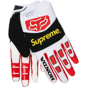 "Supreme x Honda x Fox - Luvas Racing ""White/Red"""
