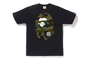 "BAPE - Camiseta 1ST Camo Green Big Ape Head ""Black"""