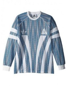 "Palace x Adidas - Camiseta LS ""Blue/White"""