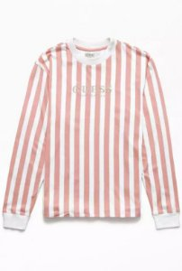"""GUESS - Camiseta 81 Go Vertical Striped """"Pink/White"""""""
