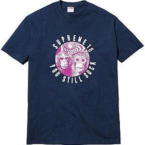 "SUPREME - Camiseta You Still Suck ""Navy"""