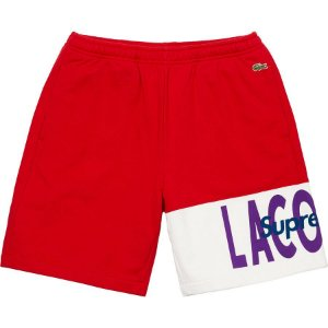 "Supreme x Lacoste - Bermuda Logo Panel ""Red"""