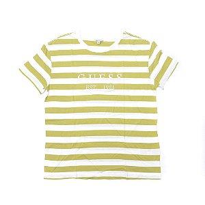 "GUESS - Camiseta Striped ""Green/White"" (Feminina)"