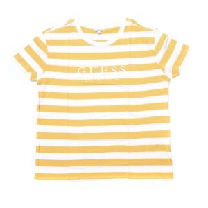"GUESS - Camiseta Striped ""Yellow/White"" (Feminina)"