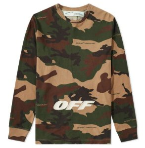 "OFF-WHITE - Camiseta OFF Logo Camo ""Green"""