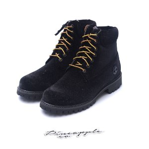 "Timberland 6-Inch Boot x Off White ""Black Velvet"""
