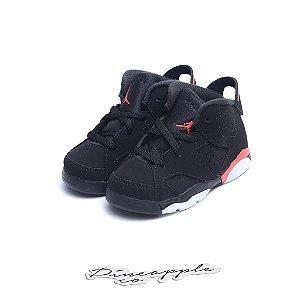 """Nike Air Jordan 6 Retro """"Black/Infrared-23"""" (Infant)"""