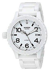 """NIXON - Relógio Ceramic 42-20 """"White"""""""