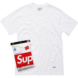 "SUPREME x HANES - Camiseta UNIDADE ""Branco"" -NOVO-"