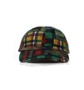 "Polo Ralph Lauren - Boné Baseball Check ""Green/Red"""