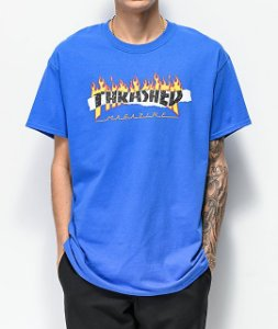 "THRASHER - Camiseta Ripped ""Blue"""