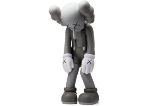 "KAWS - Boneco Small Lie Companion Vinyl ""Grey"""