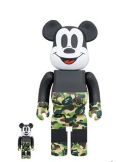 "Bape x Medicom - Bearbrick Mickey 90th 100% & 400% ""Green"""