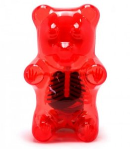 "Jason Freeny - Gummi Bear Funny Anatomy ""Red"""