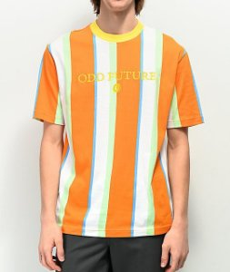 "ODD Future - Camiseta Vertical Stripe ""White/Orange"""