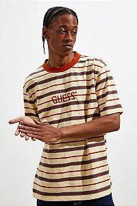 "GUESS - Camiseta Dean Stripe ""Orange/Yellow"""
