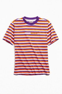 "Guess X 88Rising - Camiseta Stripe ""Orange/White/Purple"""