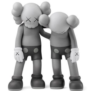 "KAWS - Boneco Along The Way ""Grey"""