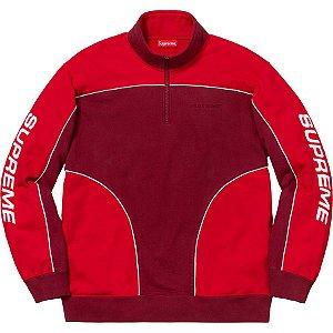 """SUPREME - Moletom Half Zip Speedway """"Red"""""""