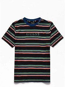 "GUESS - Camiseta Dylan Striped 1981 ""Black/Green"""