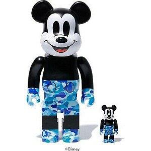 "Bape x Medicom - Bearbrick Mickey 90th 100% & 400% ""Blue"""