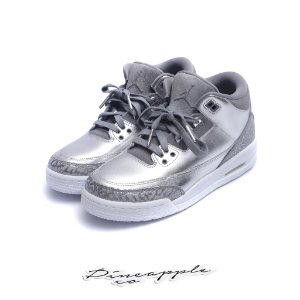 "Nike Air Jordan 3 Retro Heiress ""Metallic Silver"" (Infant/GS)"