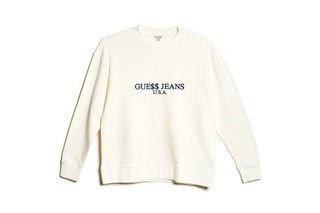 "Guess x Asap Rocky - Moletom Logo GUE$$ ""White"""