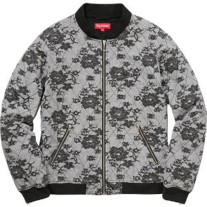 "SUPREME - Jaqueta Quilted Lace ""Grey"""