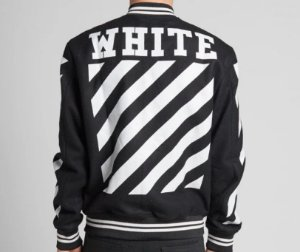 "OFF-WHITE - Jaqueta Letterman ""Black/White"""