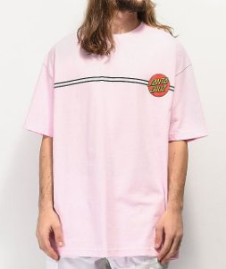 "SANTA CRUZ - Camiseta Classic Dot ""Rosa"" -NOVO-"