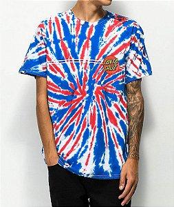 "Santa Cruz - Camiseta Classic Dot Union Jack ""Tie Dye"""