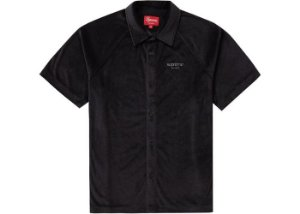 "SUPREME - Camisa Velour S/S ""Black"""