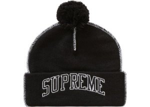 "SUPREME - Touca Contrast Stitch ""Black"""